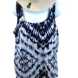Blue and white Swim Suit for all top NWT